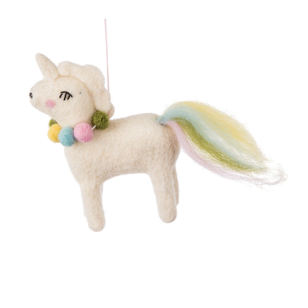 Felt Unicorn Ornament  | Putti Christmas Canada