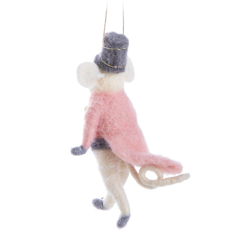 Majorette Mouse Felted Ornament | Putti Christmas Celebrations