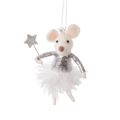 Princess Mouse Felted Ornament