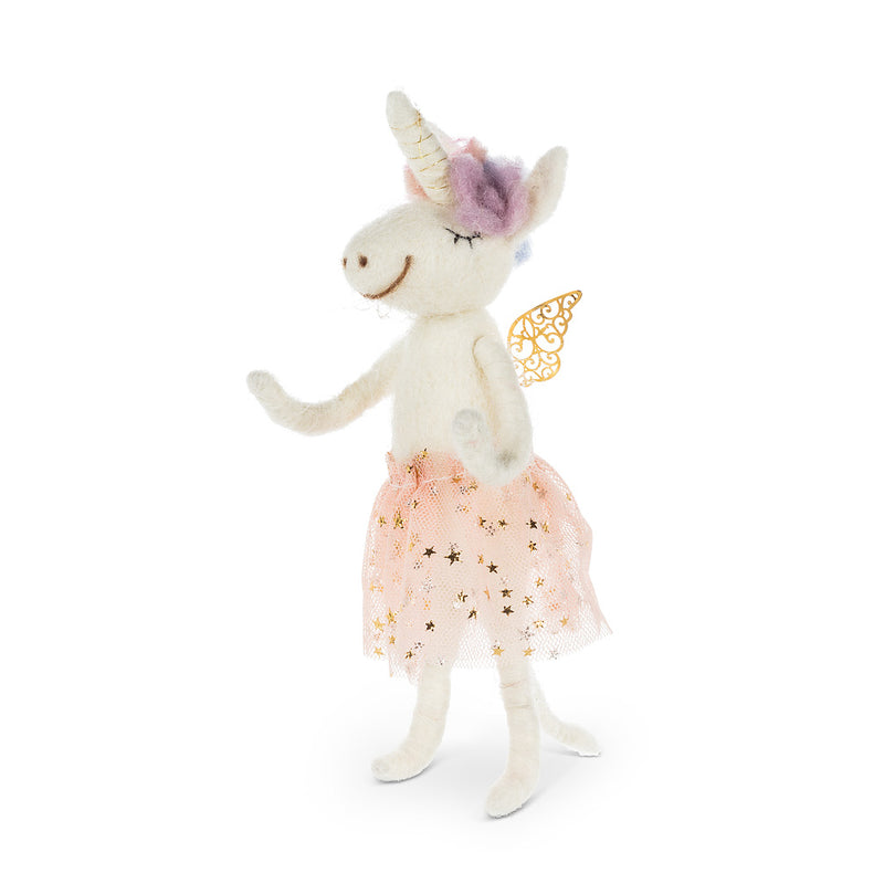 Fairy Unicorn with Sequin Skirt Felt Ornament