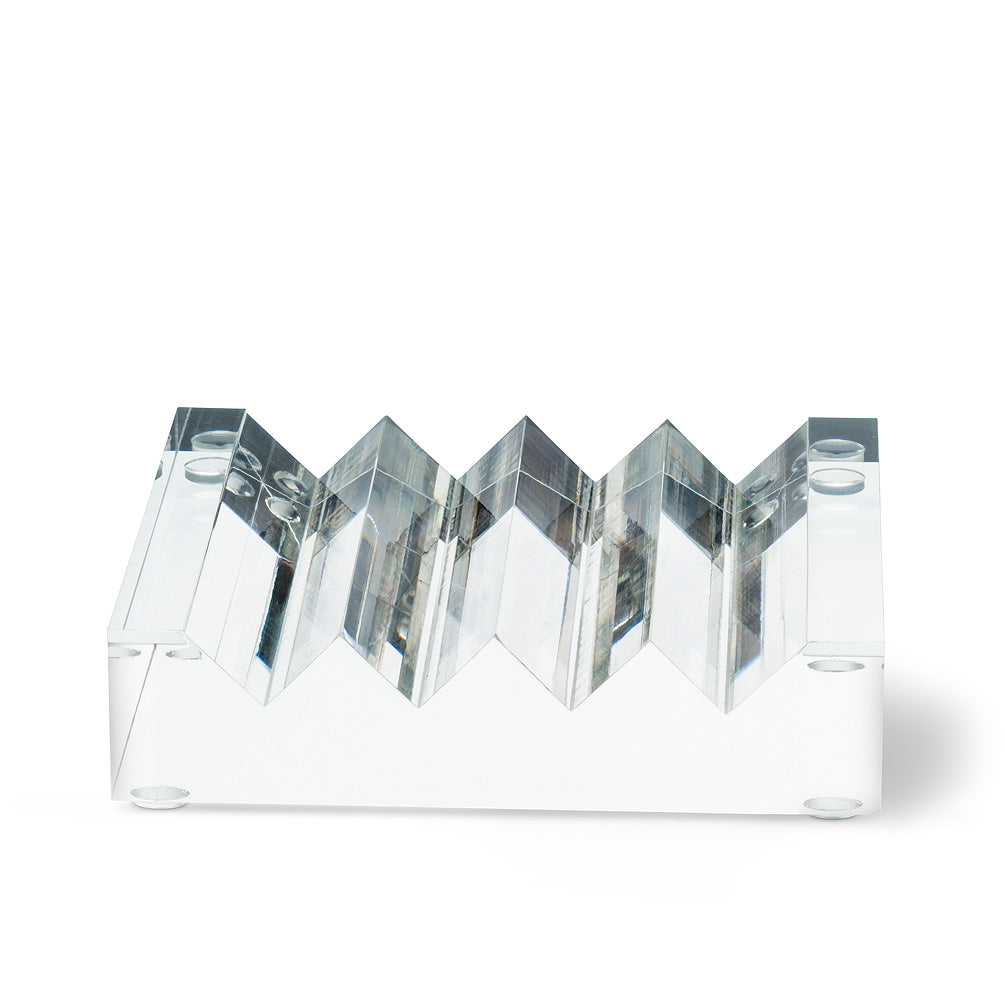 Ridged Acrylic Soap Dish | Putti Fine Furnishings