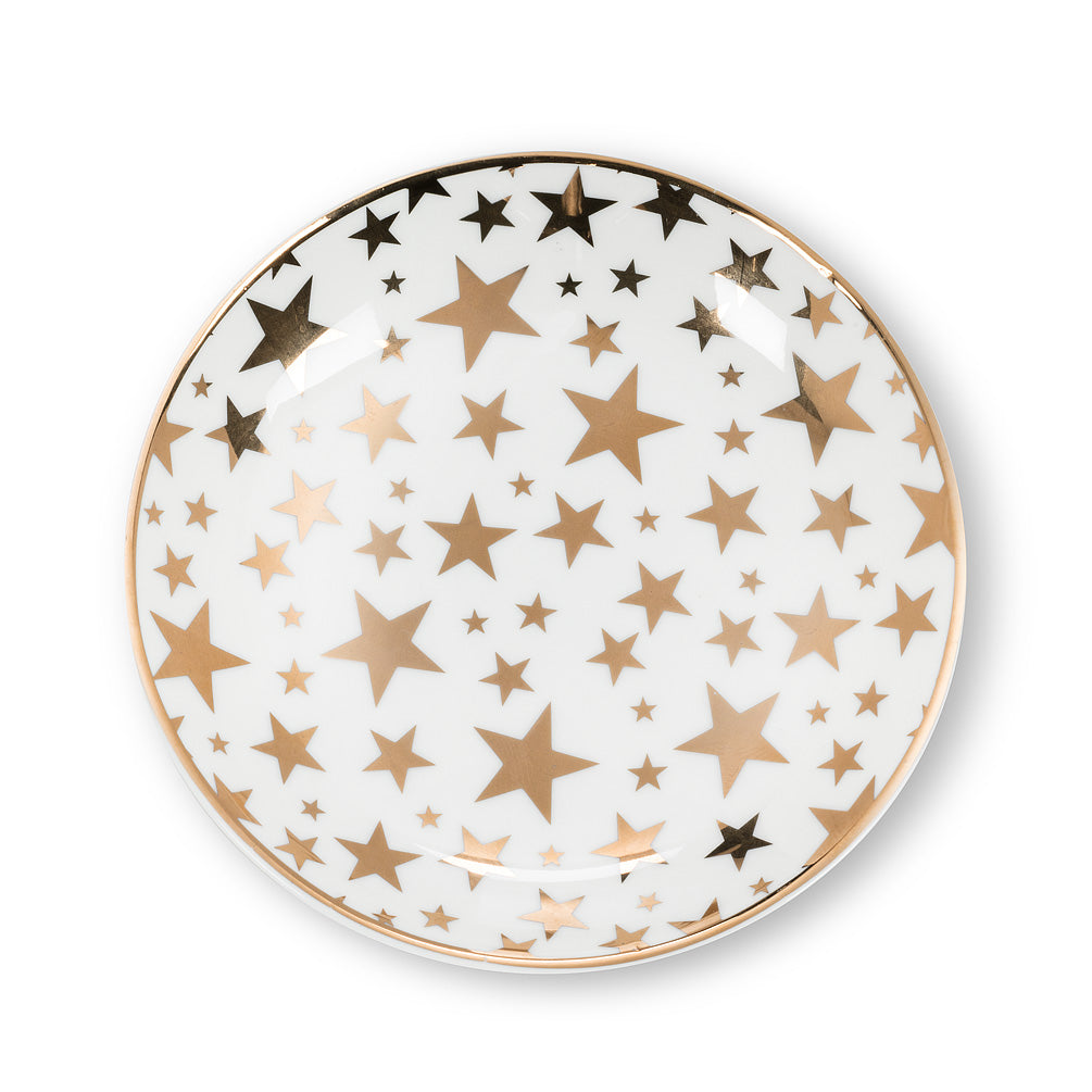Round Trinket Dish with Stars