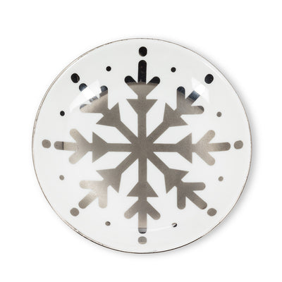 Round Trinket Dish with Snowflake