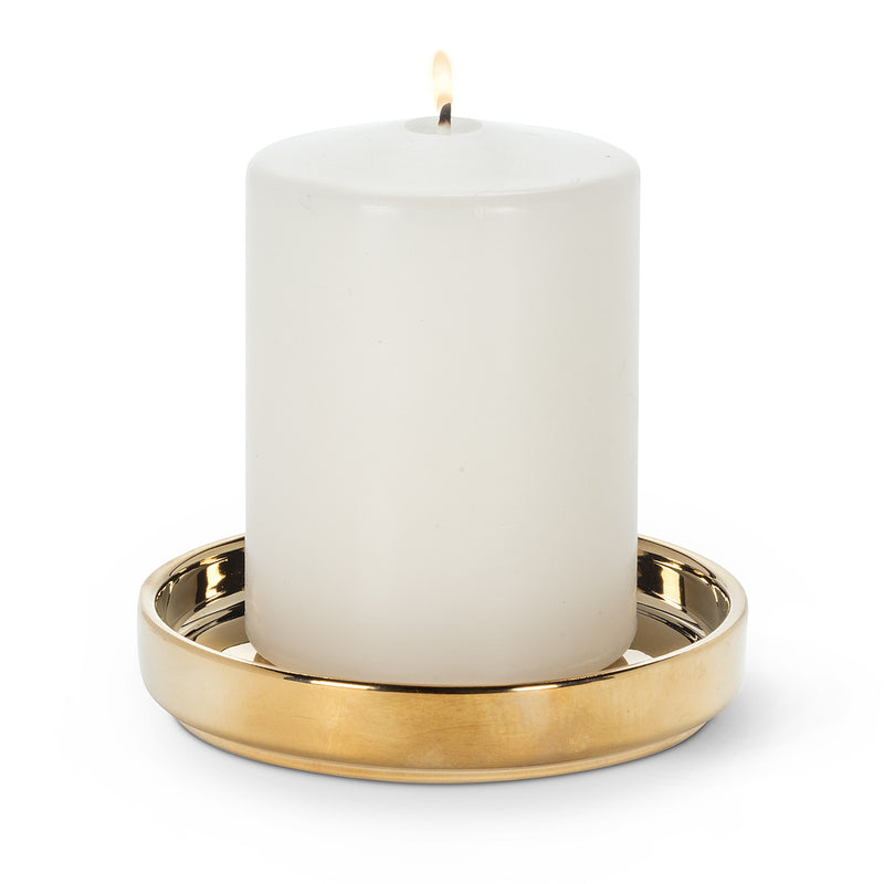 Coaster Candle Base Gold | Putti Christmas Canada