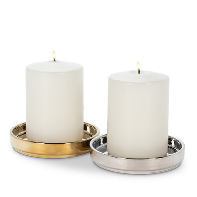 Coaster Candle Base Silver | Putti Fine Furnishings