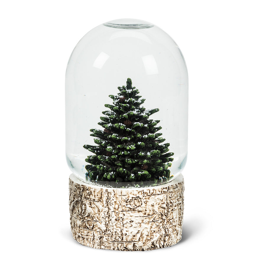 tall tree snow globe large - Large Christmas Snow Globes