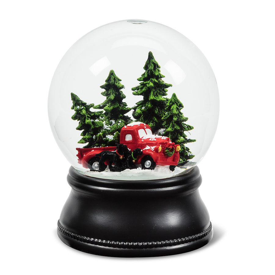 Truck with Tree Snow Globe - Large
