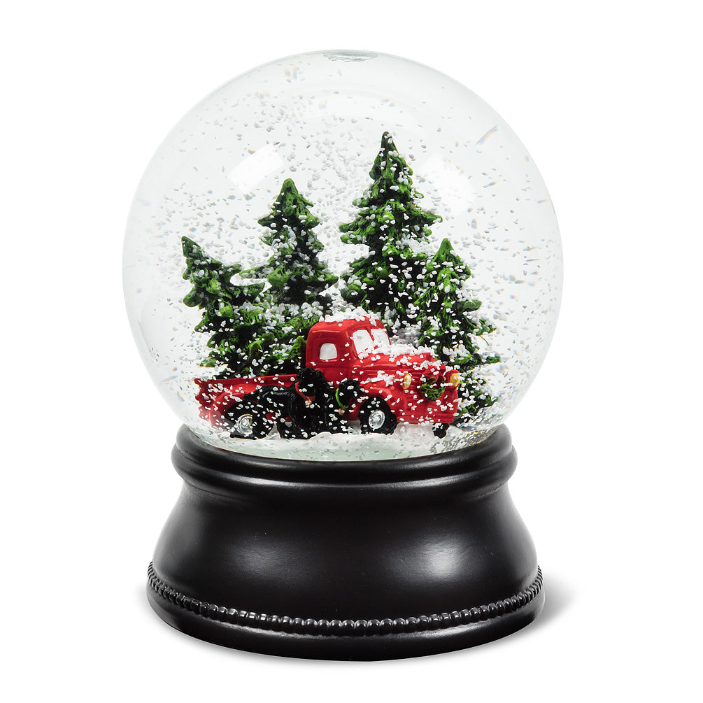 Truck With Tree Snow Globe Large Putti Christmas Celebrations Toronto Canada Putti Fine Furnishings