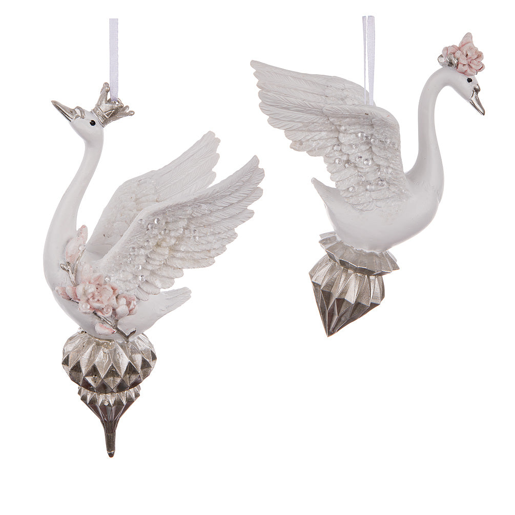 Graceful Swan Ornament | Putti Christmas Celebrations