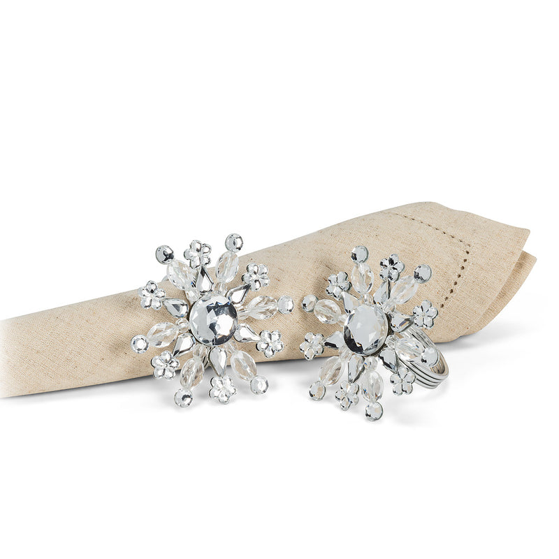 Crystal Snowflake Napkin Ring - Putti Fine Furnishings Canada
