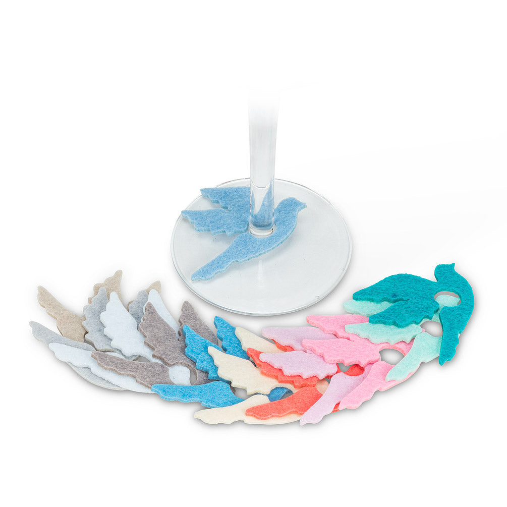 Dove Wine Charms - Set of 12