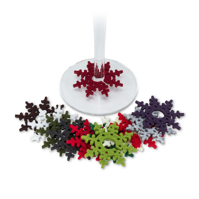 Snowflake Wine Charms - Set of 12 | Putti Christmas Canada