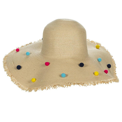 All Over Pom Pom Sun Hat | Putti Fine Fashions