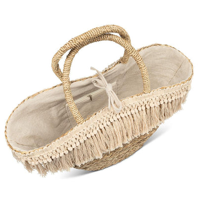 Seagrass Tote with Natural Tassels | Putti Fine Fashions
