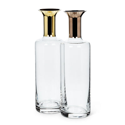Tall Carafe with Metallic Top - Putti Fine Furnishings Canada