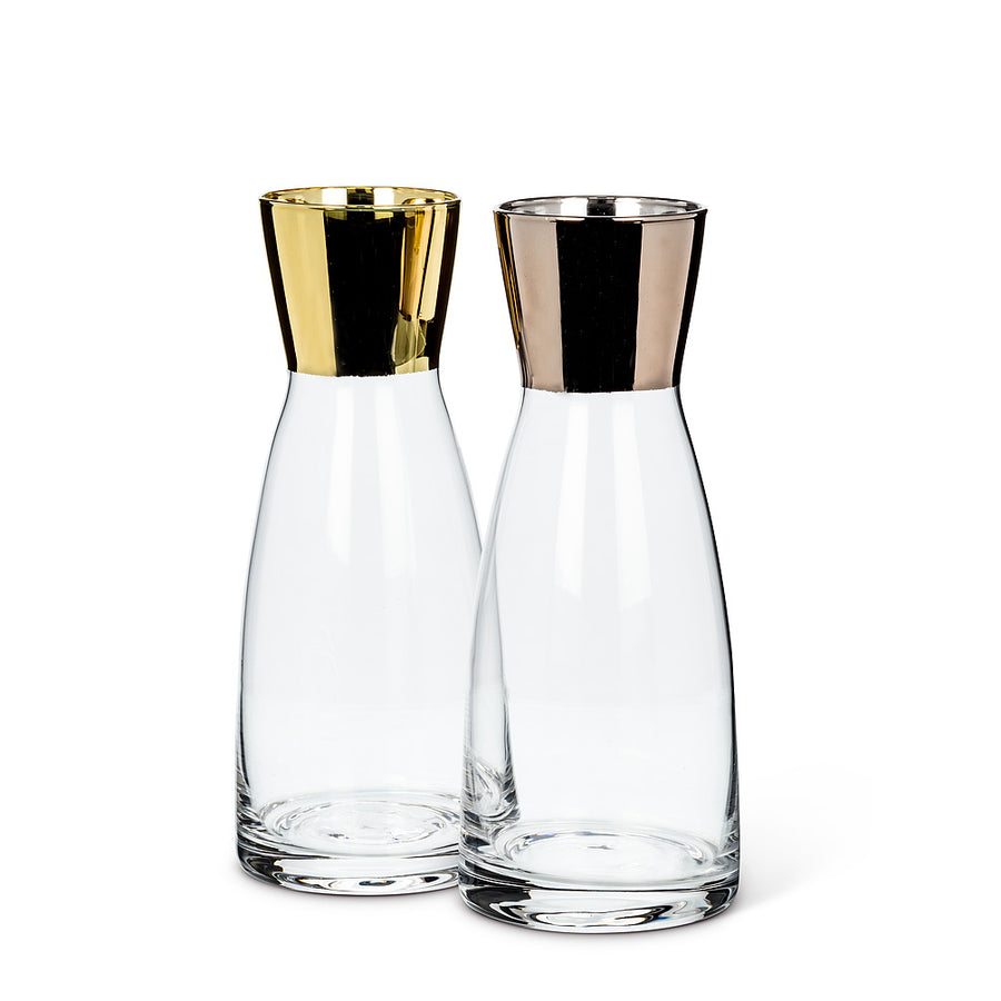 Small Carafe with Metallic Top - Gold