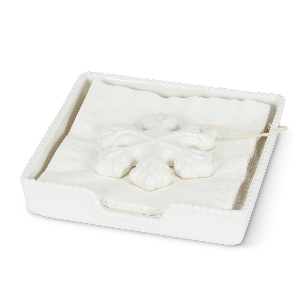 Snowflake Luncheon Napkin Holder | Putti Christmas Celebrations