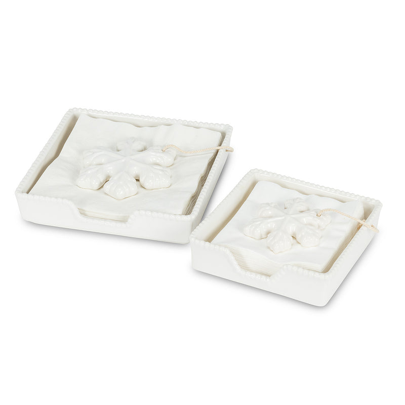 Snowflake Cocktail Napkin Holder | Putti Christmas Celebrations