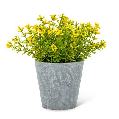 Yellow Flowering Plant Pot | Putti Fine Furnishings