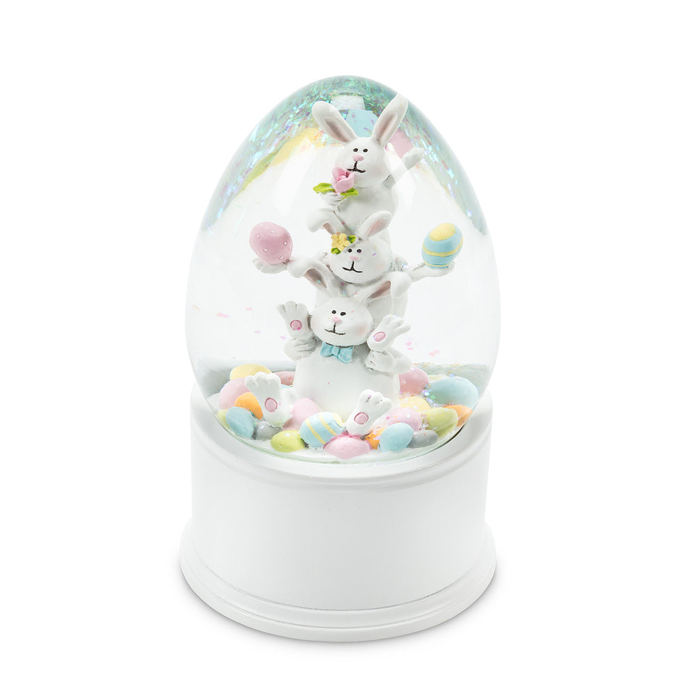 Large Stacked Rabbit Egg Shaped Water Globe | Le Petite Putti
