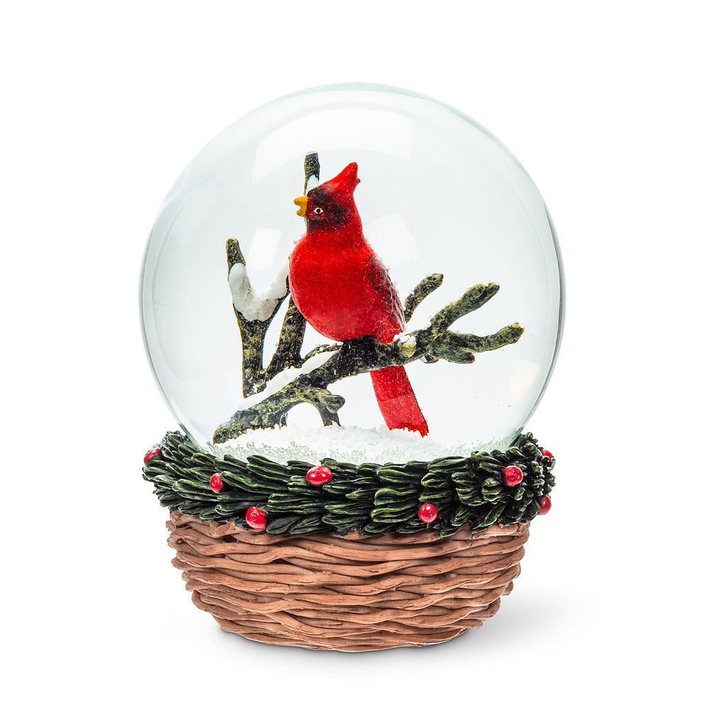 Medium Cardinal Snow Globe | Putti Christmas Canada