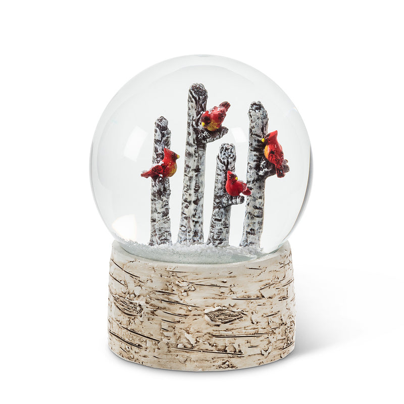 Cardinals on Trees Snow Globe | Putti Christmas Canada