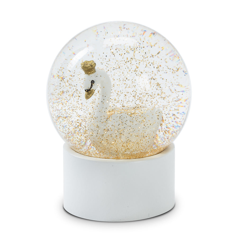 Small White Swan Snow Globe