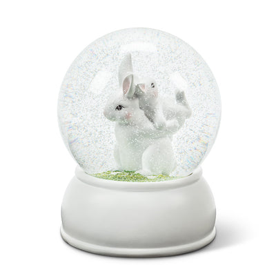 Large Bunny Duo Water Globe