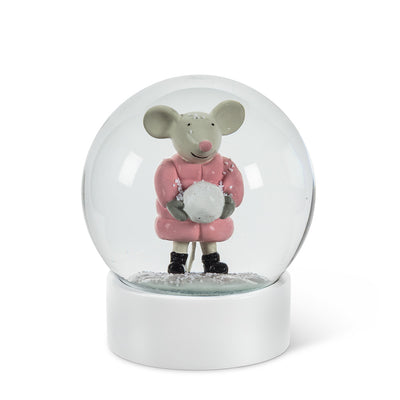 Medium Mouse with Snowball Snow Globe | Putti Christmas Celebrations