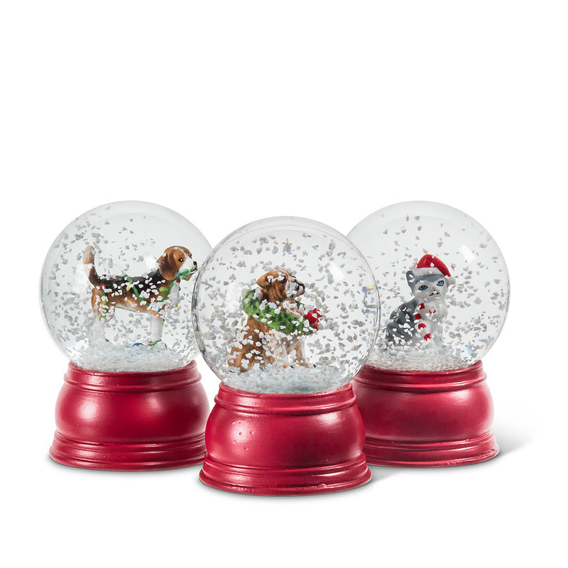 Bulldog Holiday Pet Snow Globe - Small | Putti Celebrations