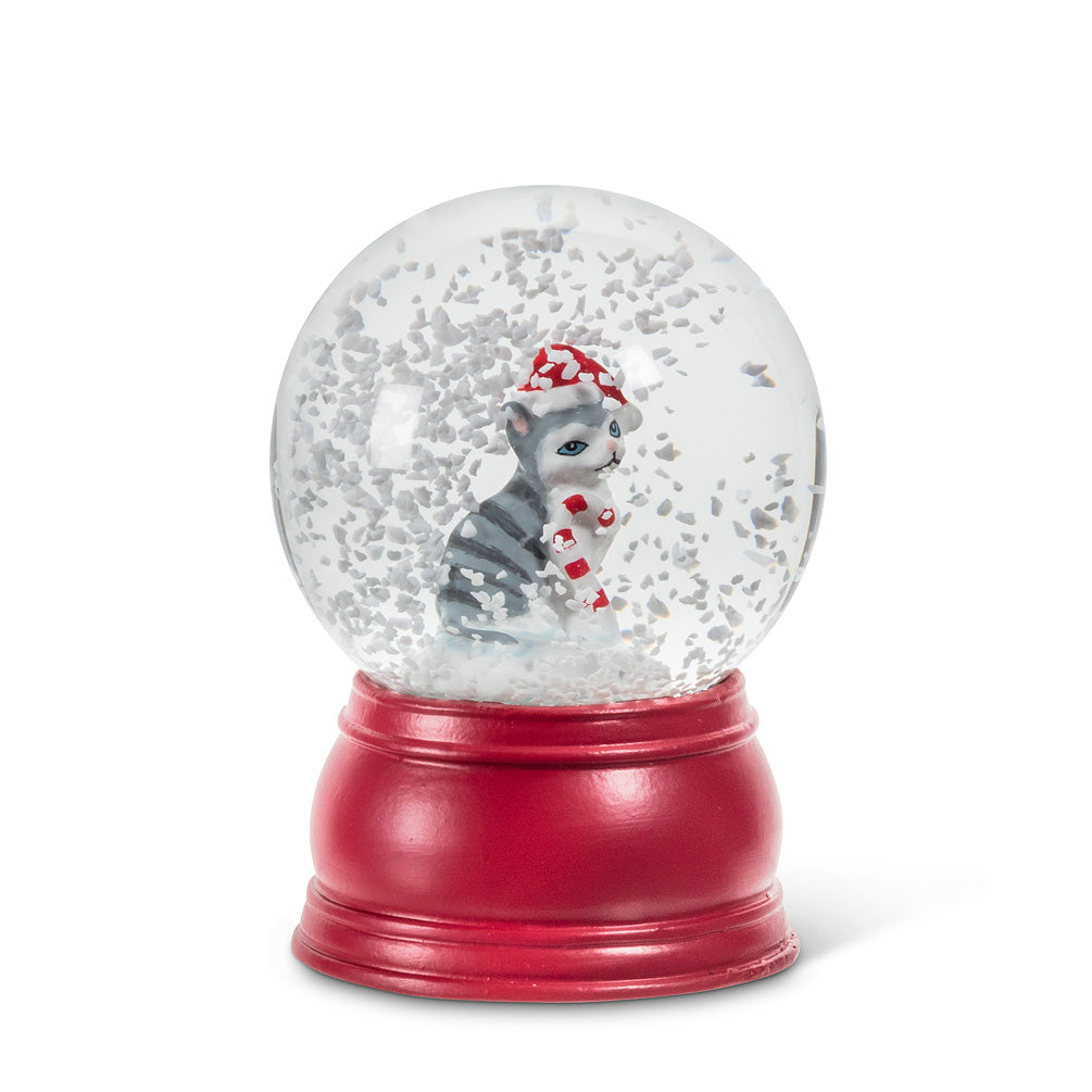 Cat Holiday Pet Snow Globe - Small | Putti Celebrations