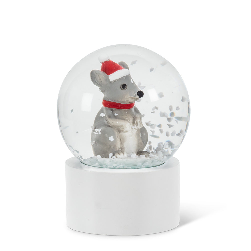 Mouse in Hat Mini Snow Globe | Putti Christmas Celebrations
