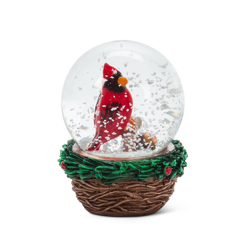 Red Cardinal Snow Globe - Small | Putti Christmas Canada