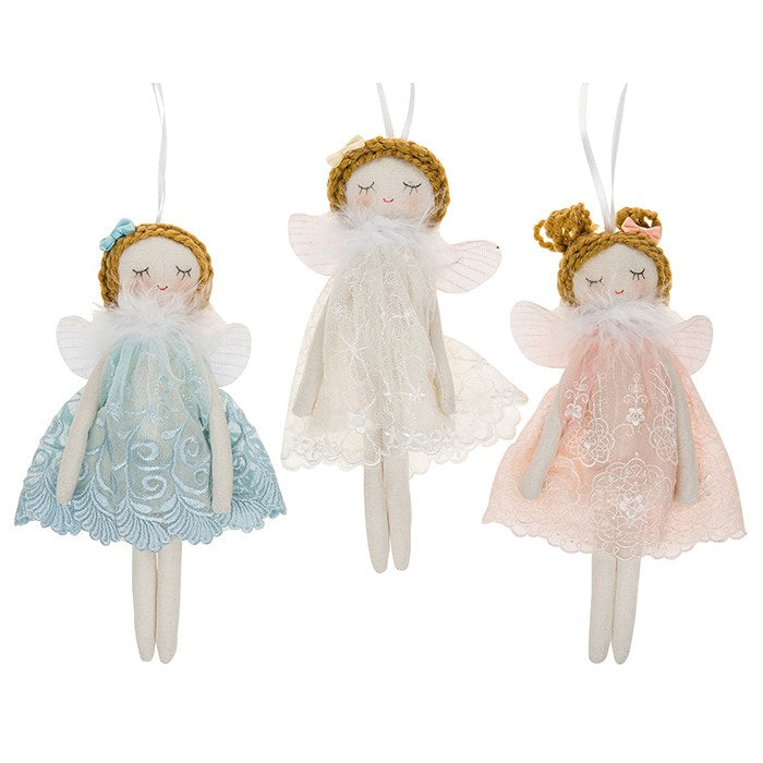 Cream Fabric Fairy Angel - Small