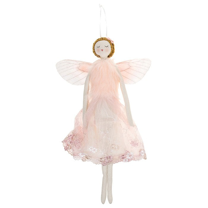 Pink Fabric Fairy Angel - Large