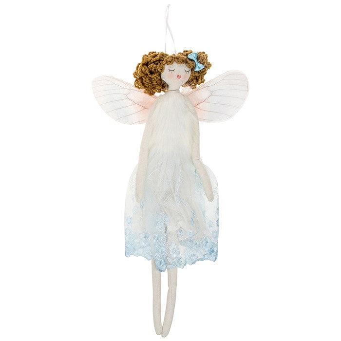 Blue Fabric Fairy Angel - Large