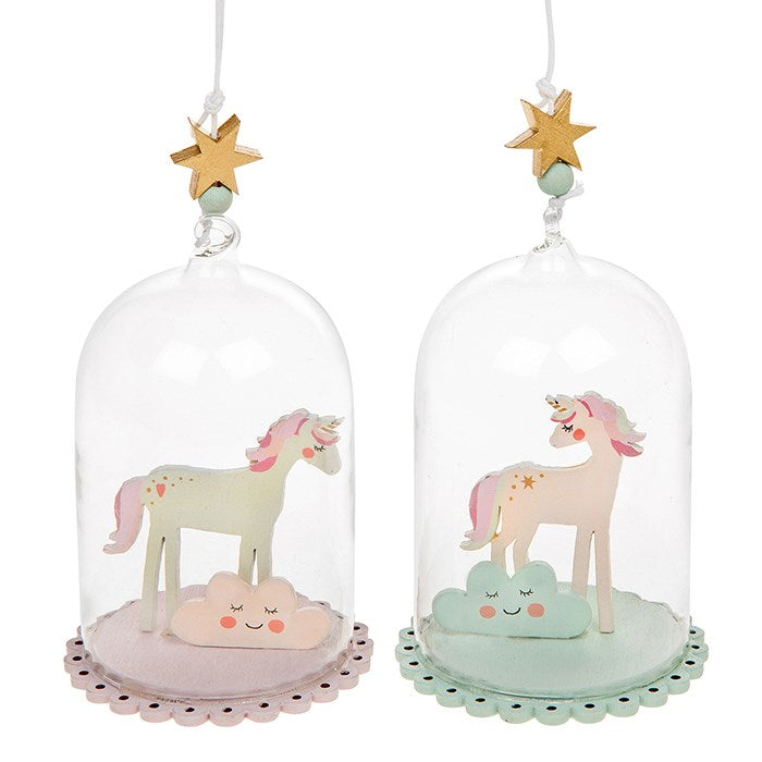 Unicorn Dreams Glass Dome Ornament, JDUK-Joe Davies Uk, Putti Fine Furnishings