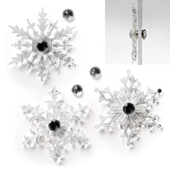 Two Piece Magnet Snowflake Decoration, AC-Abbott Collection, Putti Fine Furnishings