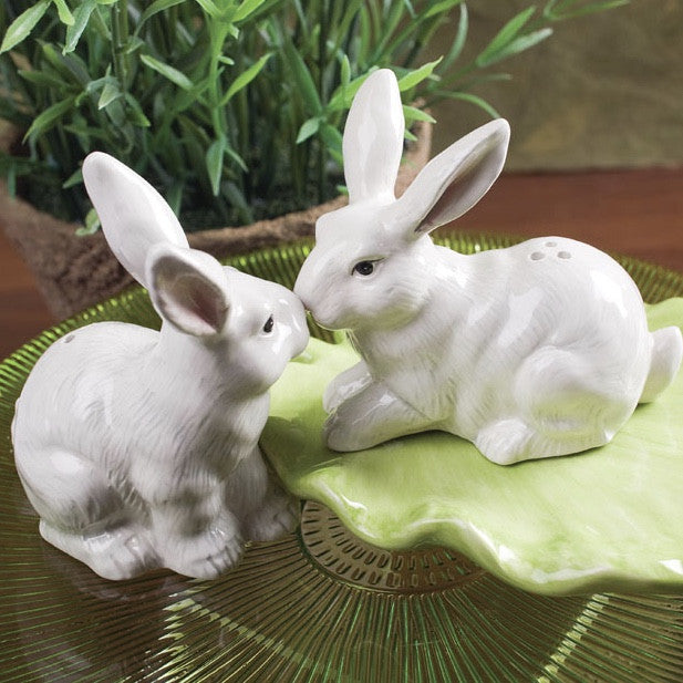 Rabbit and Leaf Salt and Pepper
