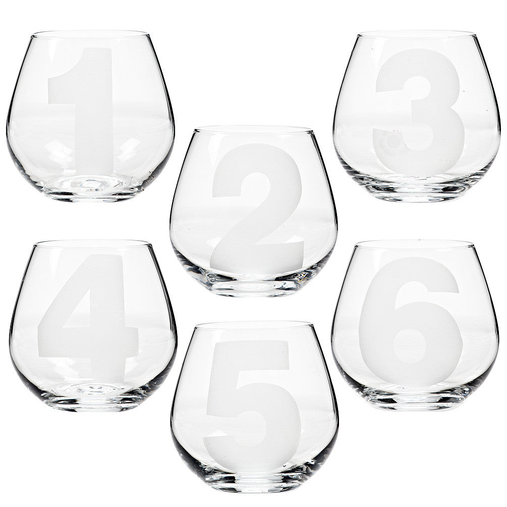 """Numbers"" Glassware"