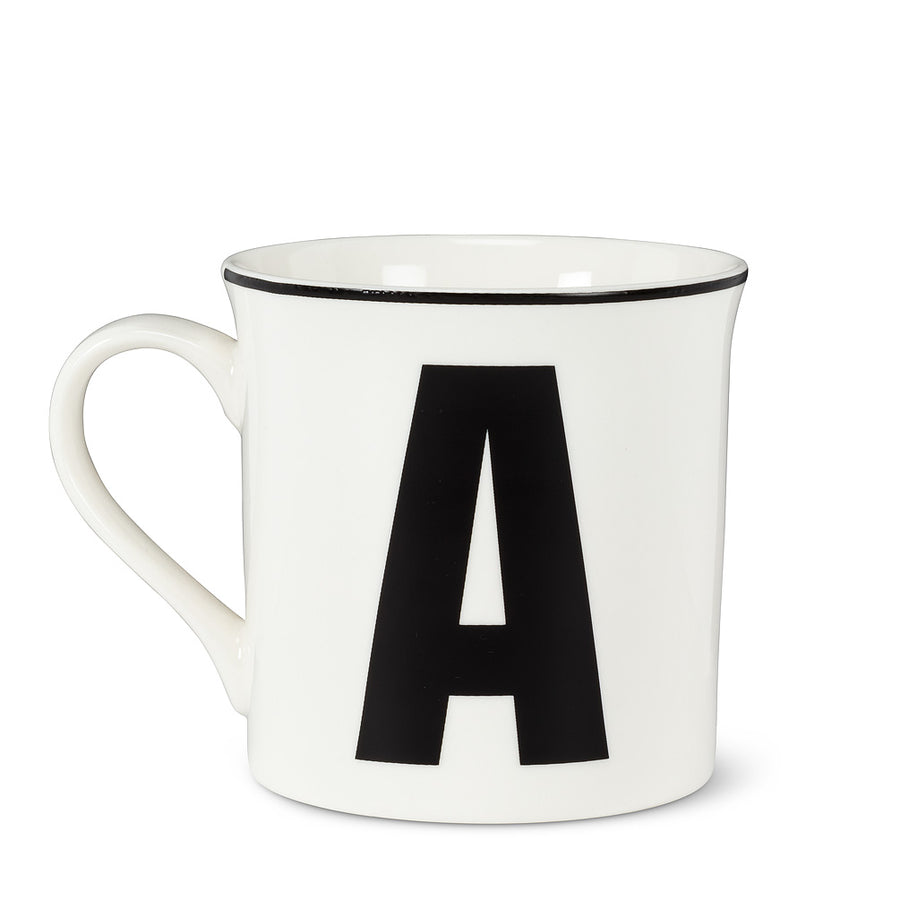 Graphic Letter Mug - Initial A