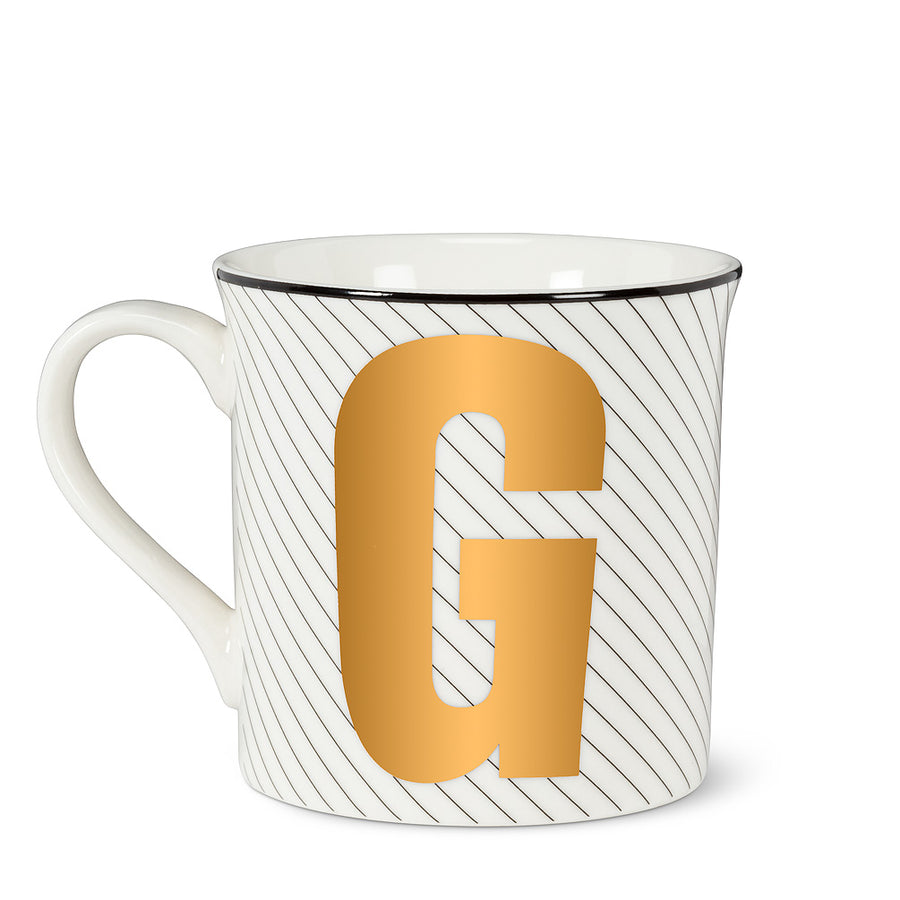 Graphic Letter Mug - Initial G