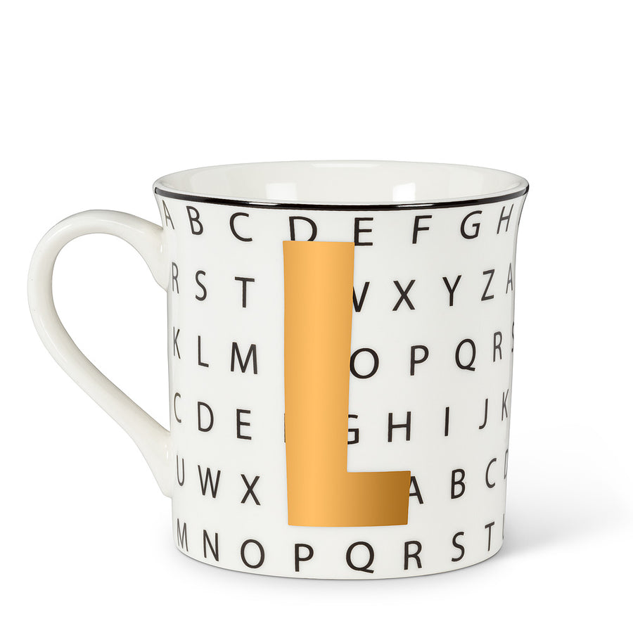Graphic Letter Mug - Initial L