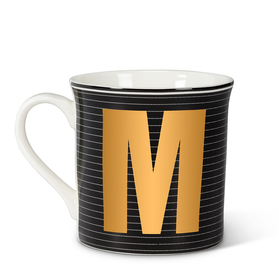 Graphic Letter Mug - Initial M