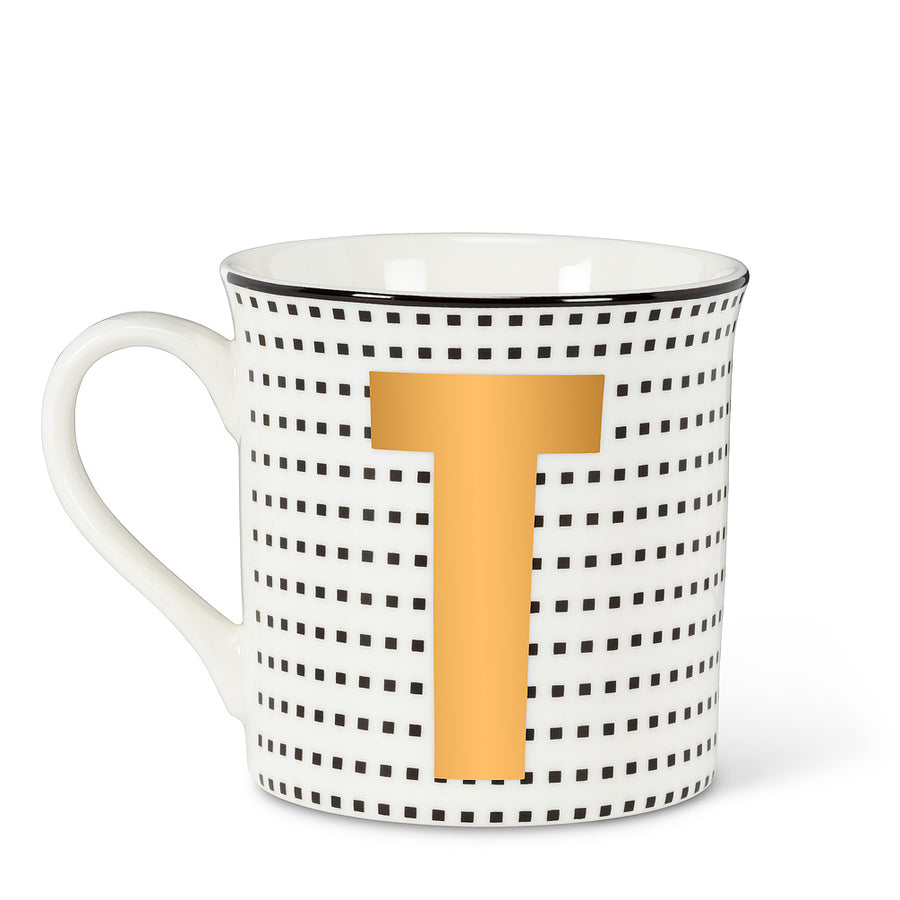 Graphic Letter Mug - Initial T