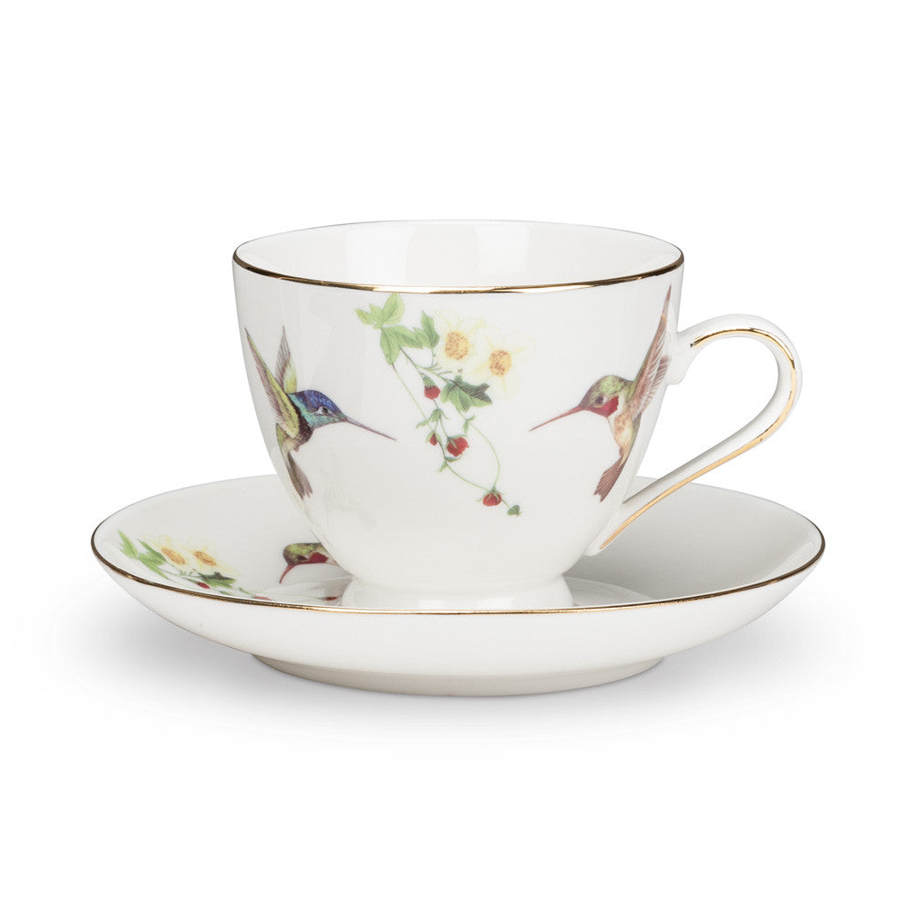 Hummingbird Cup and Saucer, AC-Abbott Collection, Putti Fine Furnishings