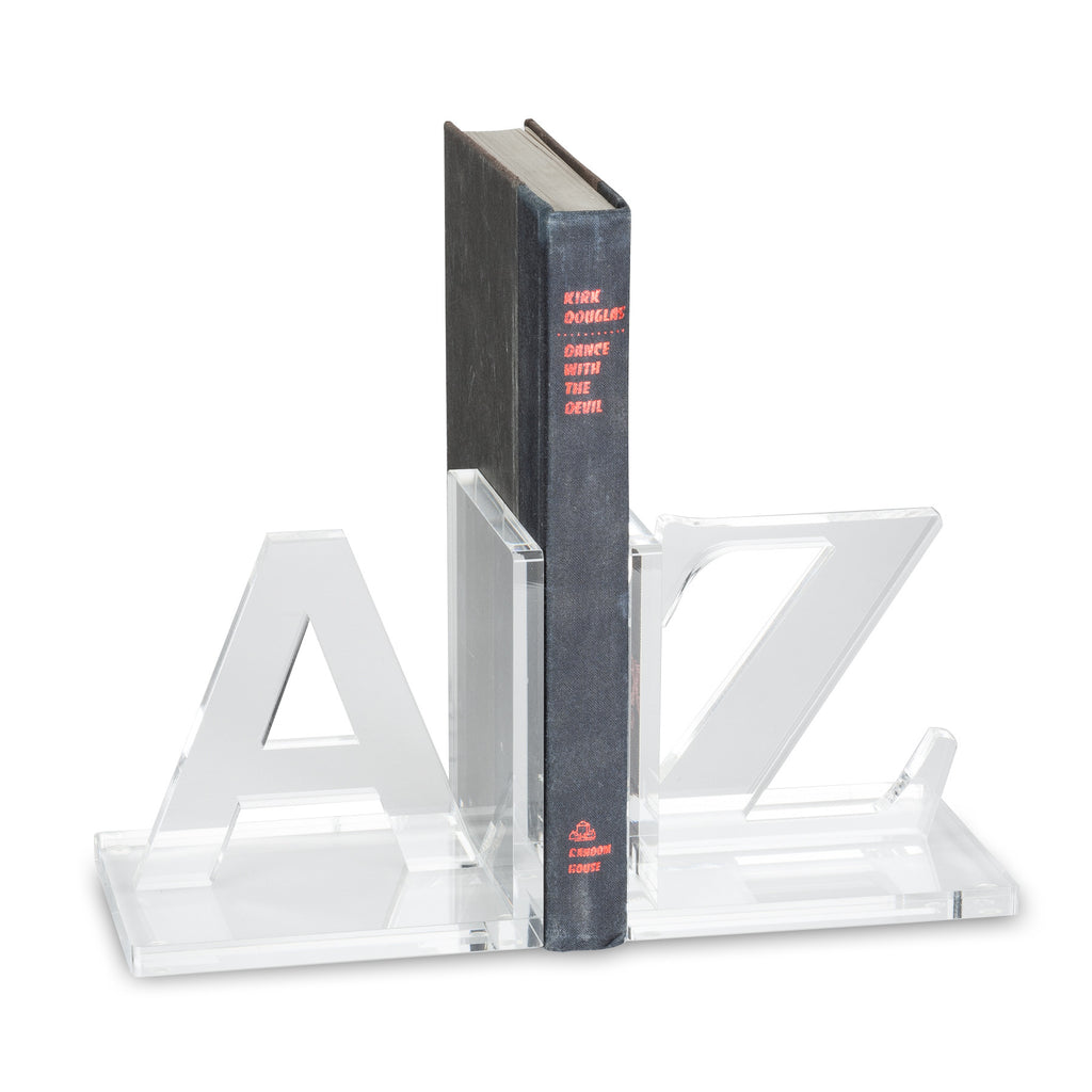 A to Z Acrylic Bookends -  Accessories - Abbot Collection - Putti Fine Furnishings Toronto Canada