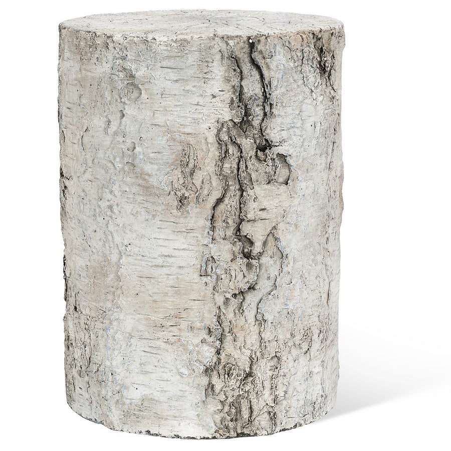 Small Birch Look Pedestal/Stool