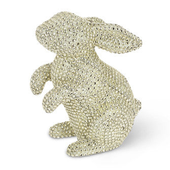Large Pastel Rhinestone Rabbit-Easter-AC-Abbott Collection-Yellow-Putti Fine Furnishings