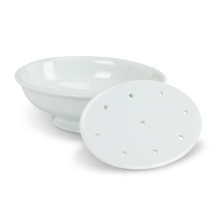 Two Piece Soap Dish with Strainer
